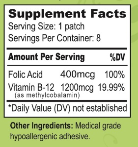b12 supplement facts